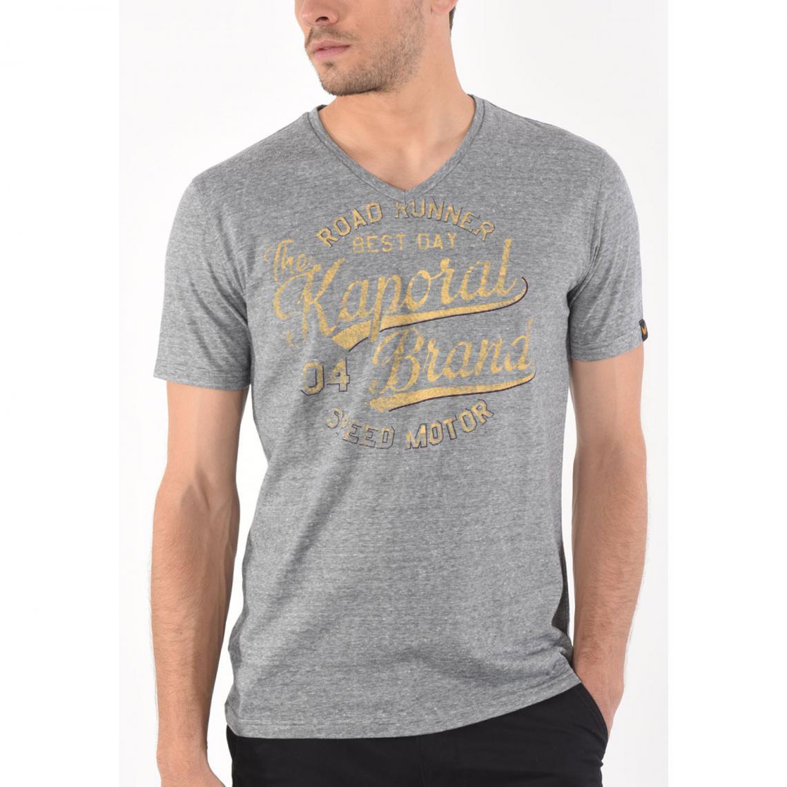 81d13ed924fe5 T-shirt manches courtes Japan homme Kaporal - Gris Anthracite Kaporal 5  Homme