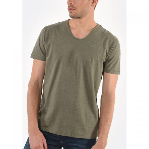 d590c7fb79a38 Kaporal 5 - T-shirt manches courtes Salva homme Kaporal - Kaki - T-