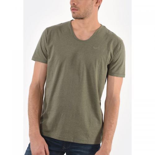 b82610680b7b8 Kaporal 5 - T-shirt manches courtes Salva homme Kaporal - Kaki - T-