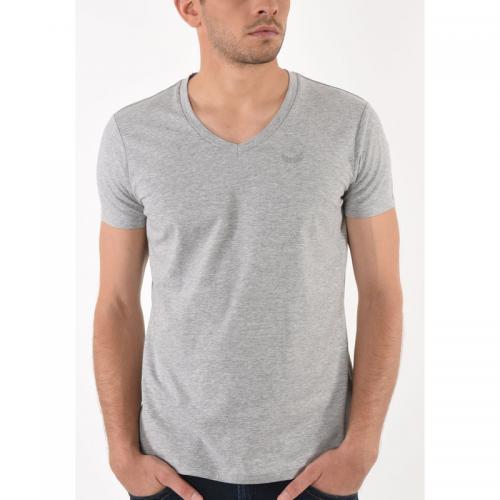lot de 2 t shirt manches courtes gift homme kaporal gris. Black Bedroom Furniture Sets. Home Design Ideas