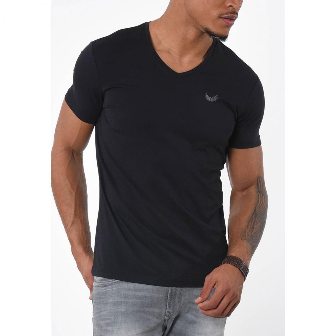 04394934b23ca T-shirt manches courtes Gift homme Kaporal - Blanc - Noir   3Suisses