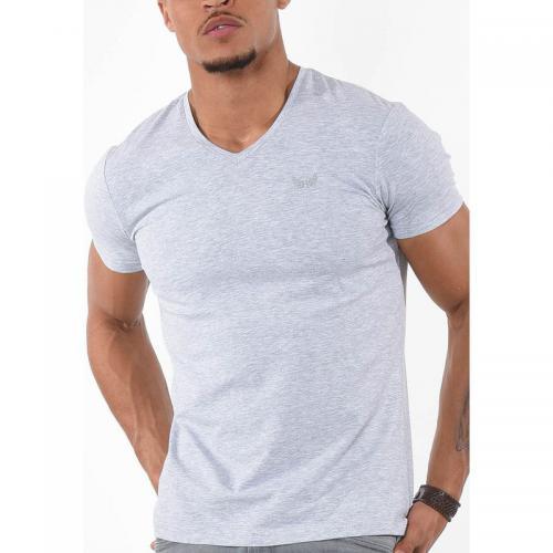 a58b83903f50c Kaporal 5 - T-shirt manches courtes Gift homme Kaporal - Gris - Noir -