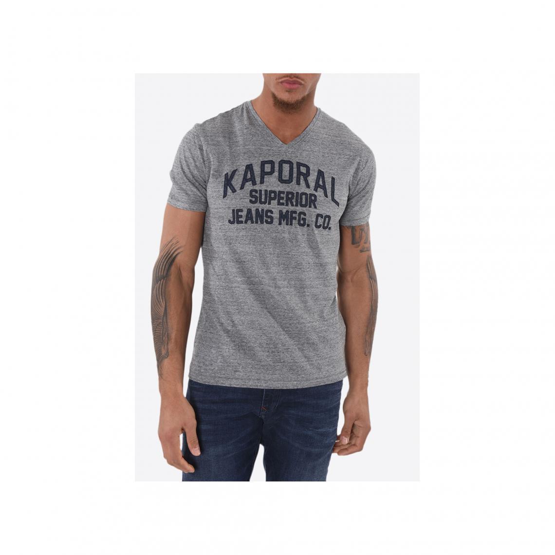 T shirt rayé manches courtes femme Kaporal Gris