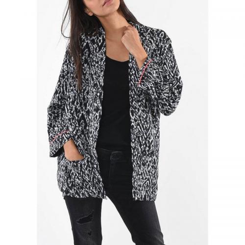 97aa875bf Veste kimono imprimé femme Faust Kaporal - Noir et Blanc