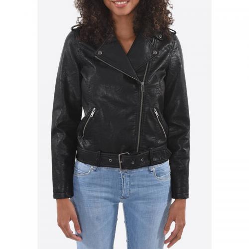 Kaporal 5 - Veste zippée femme Kaporal - Noir - Vestes en cuir femme d20ba6087b60