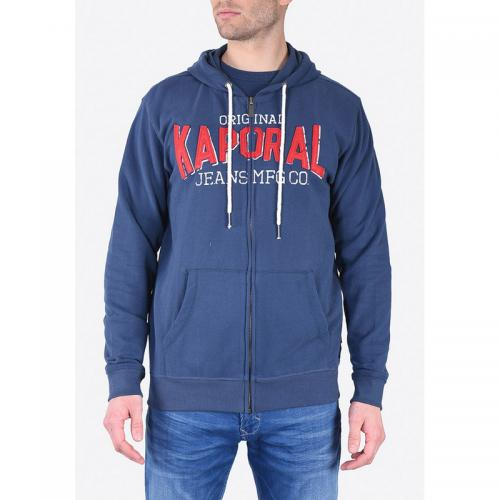 f1f73fde86c03 Sweat zippé à capuche homme Kaporal - Bleu