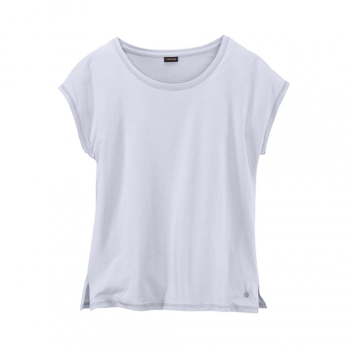 f6e56dba16f1e Séparables de nuit Lascana Cliquez l image pour l agrandir. Tee-shirt de  pyjama à manches courtes femme Lascana - Gris Argent Lascana