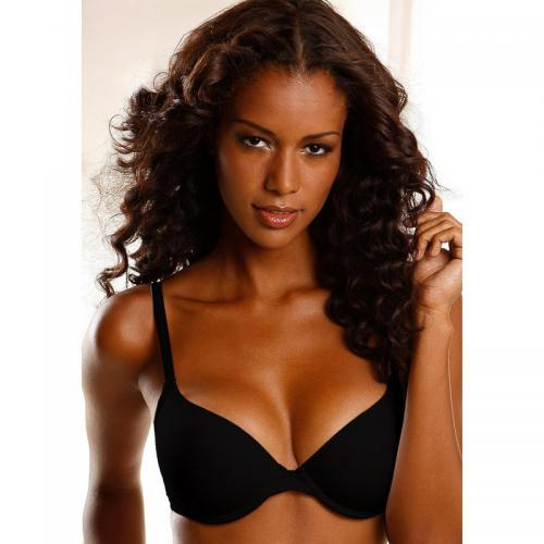 Lascana - Soutien-gorge corbeille push-up à armatures microfibre Lascana - Noir - Soutiens-gorge push-up