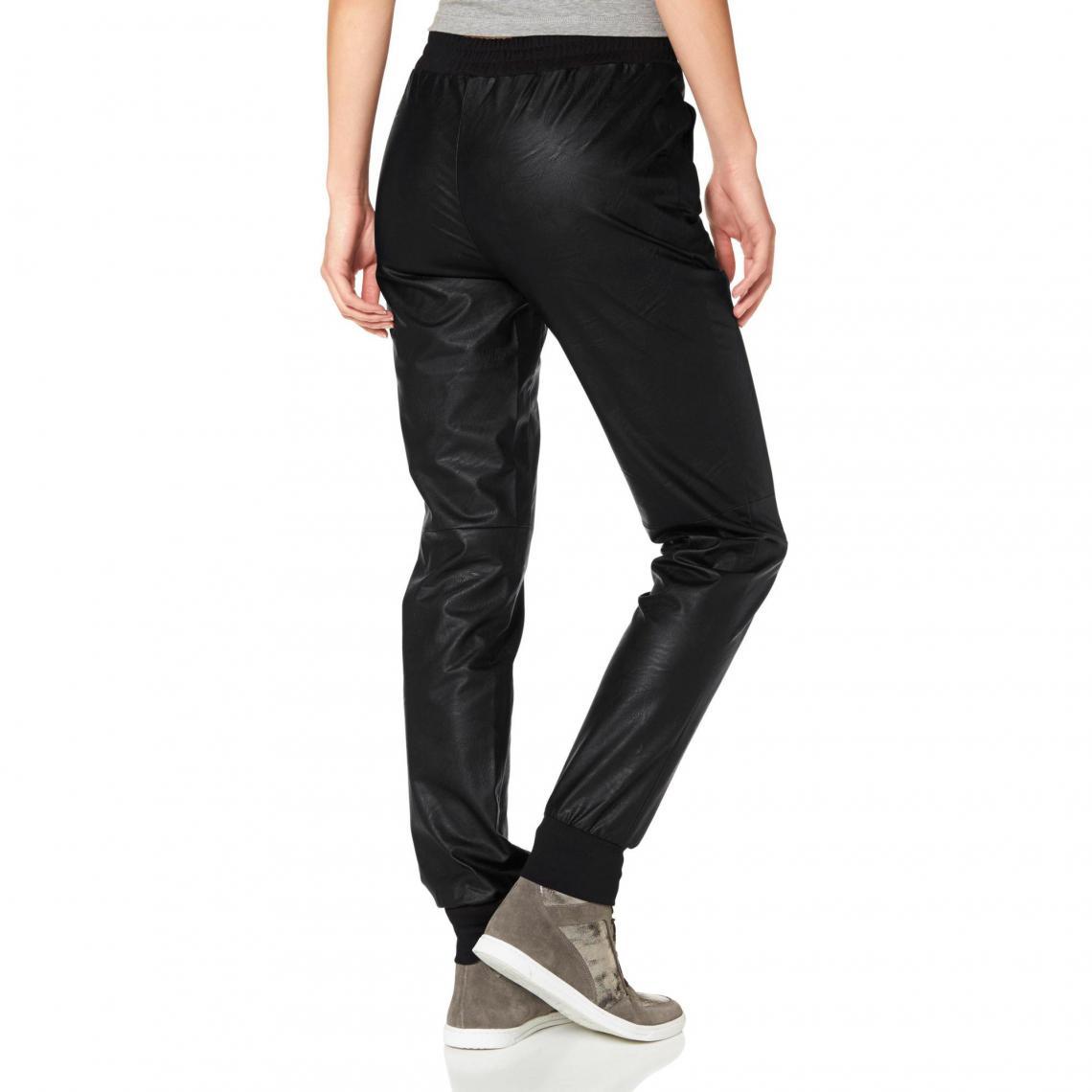 Synthétique Pantalon Femme Matiére 3suisses Noir Laura Scott Fw05wH