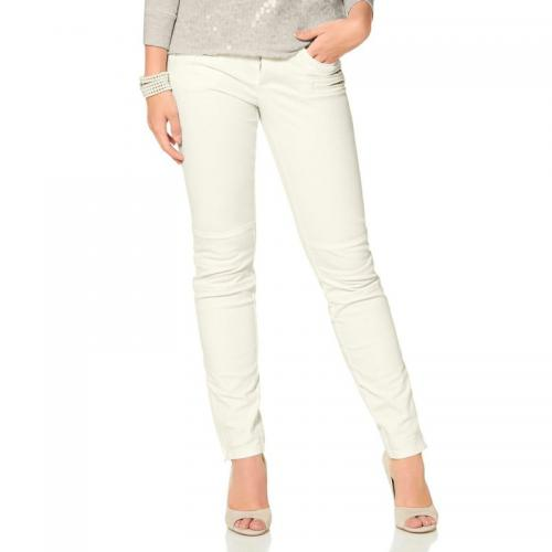Laura Scott - Pantalon slim stretch femme Laura Scott - Blanc - Laura Scott