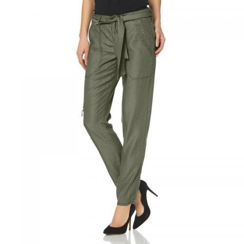 1690bd5ca760 Laura Scott - Pantalon cargo avec ceinture femme Laura Scott - Vert - Pantalon  cargo femme