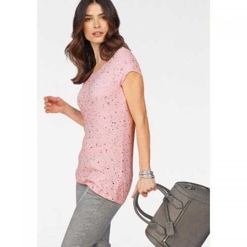 Laura Scott - T-shirt imprimé paillettes manches courtes femme Laura Scott - Nude - Promotions
