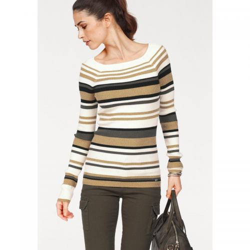 78cf896aac75 Laura Scott - Pull rayé manches longues en maille femme Laura Scott -  Rayures - Laura