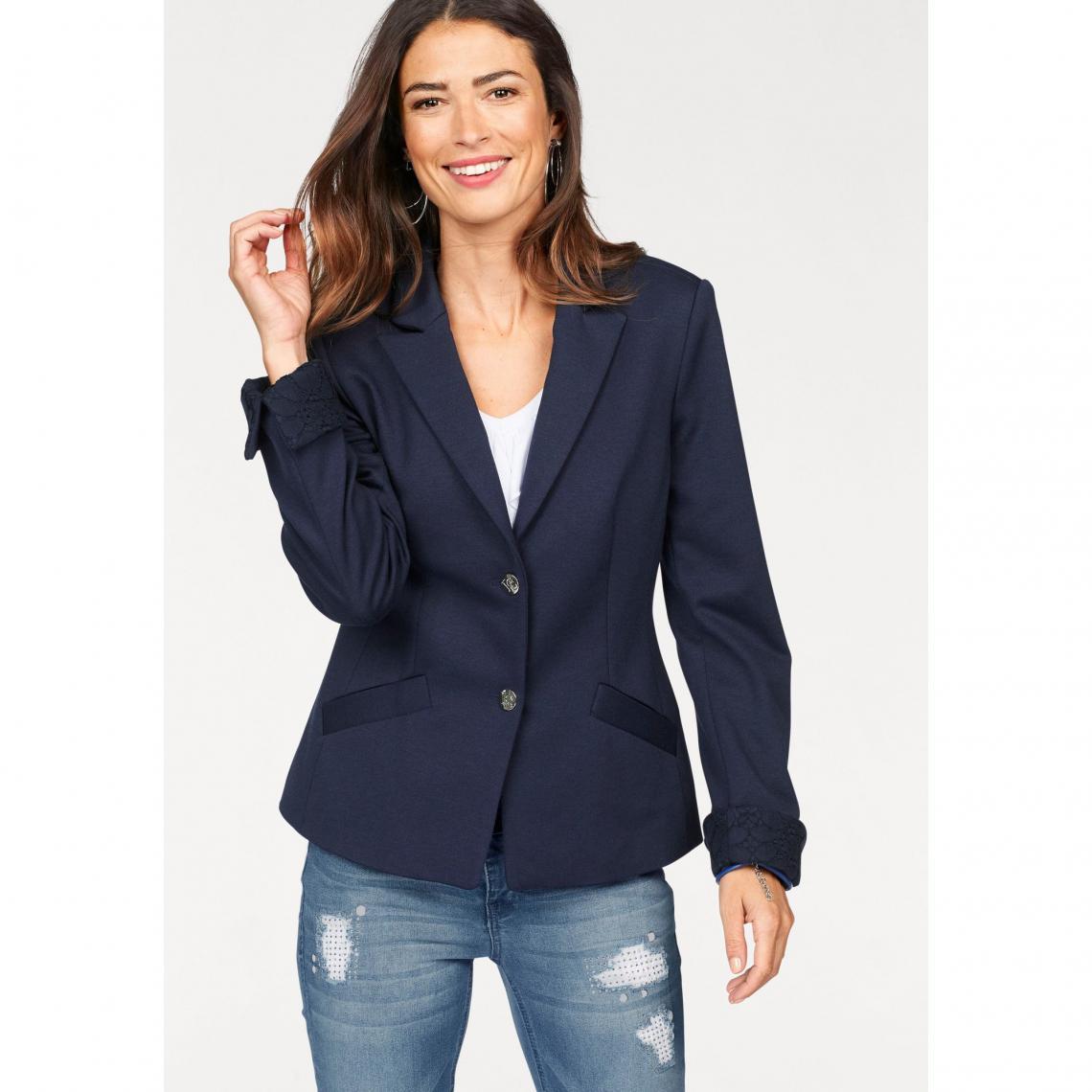veste tailleur longue femme bleu marine v tements l gants modernes. Black Bedroom Furniture Sets. Home Design Ideas