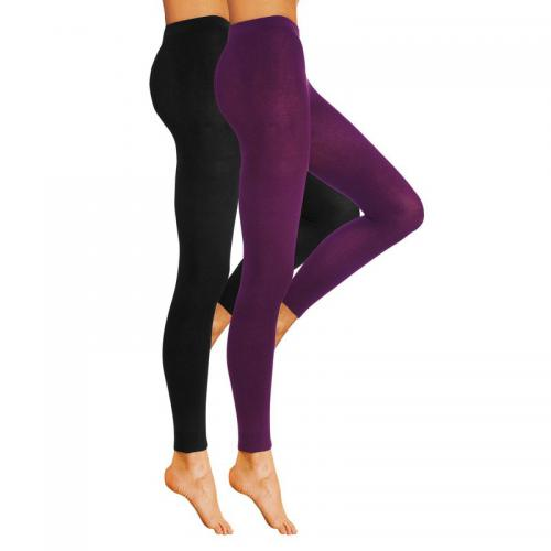 Lavana Basic - Lot de 2 leggings femme Lavana - Noir - Bas et collants