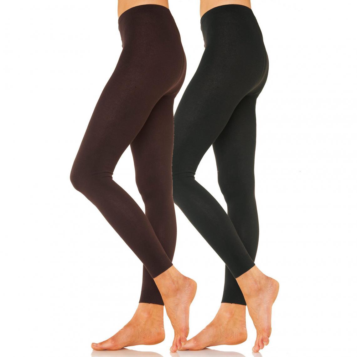 Lot de 2 leggings femme Lavana Marron Réf : LA1091245 3499109