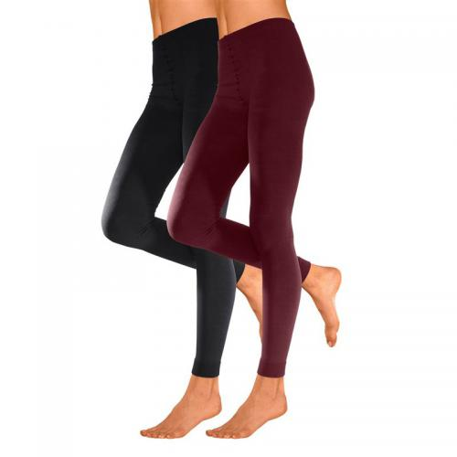 08abe8aa2 Lot de 2 leggings femme Lavana Thermoleggings - Rouge