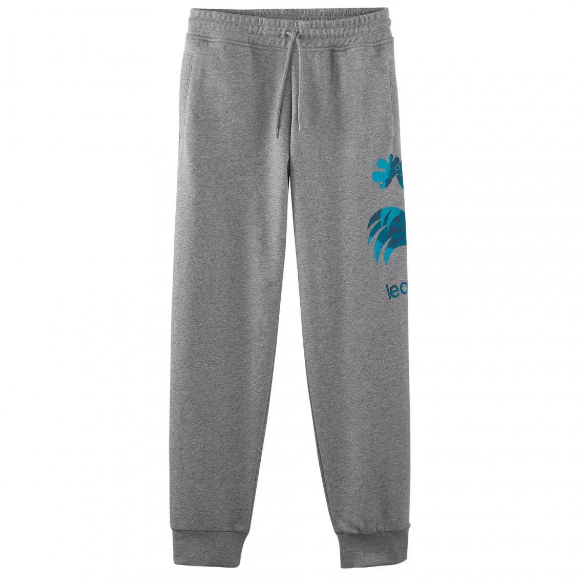 Pantalon de jogging molleton uni homme Le Coq Sportif - gris chiné Le coq sportif  Homme 76140f51f110
