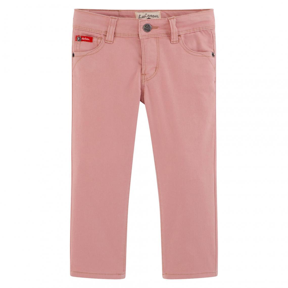 8f5f463514ff Jean slim couleur fille stretch taille ajustable Lee Cooper - Rose Lee  Enfant