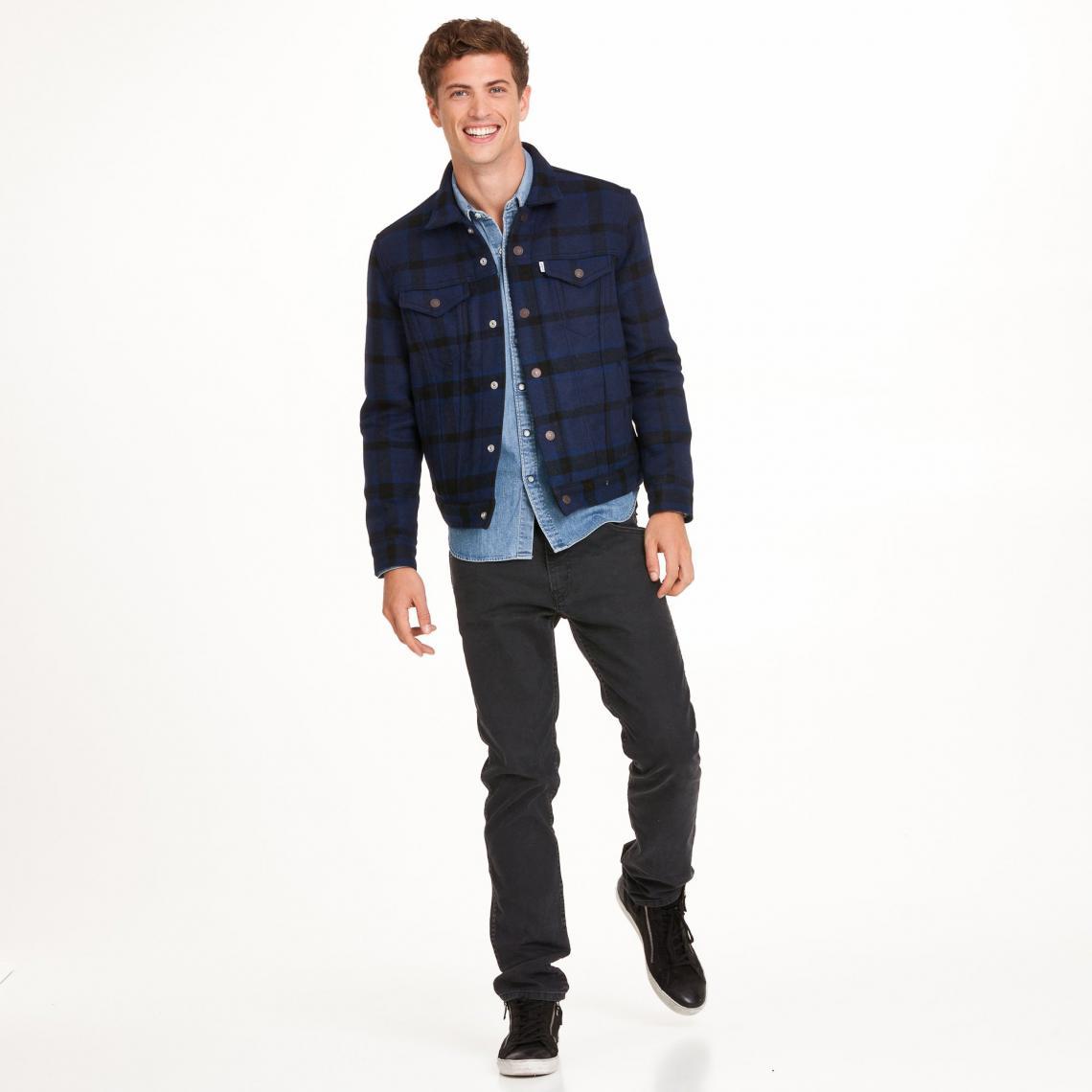 Veste à carreaux en drap de laine homme Levi's® Bleu 1 Avis