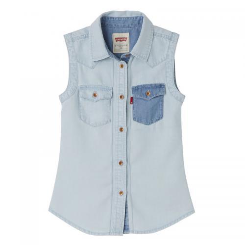 0912bf63922ab Levi's - Chemise denim sans manche fille Levi's® - Bleu - Vêtements Levi's  enfant