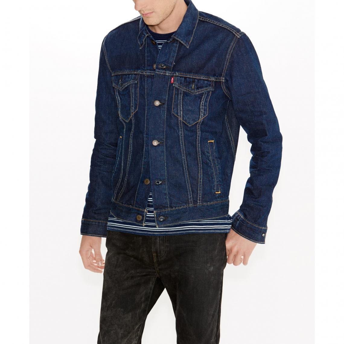 veste used trucker jacket levi 39 s pour homme bleu 3 suisses. Black Bedroom Furniture Sets. Home Design Ideas
