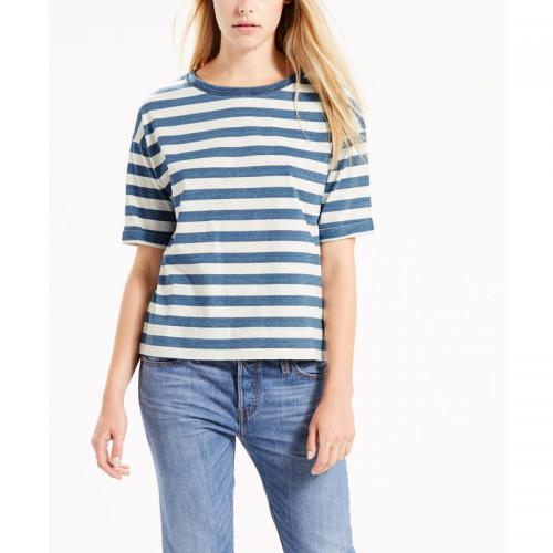 Levi's - Tee-shirt col rond manches courtes femme Sutro Levis - Multicolore - T shirt femme rayure