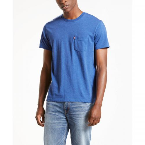 Levi's - T-shirt manches courtes sunset pocket homme Levi's® - TRUE BLUE HEATHER - Levi's