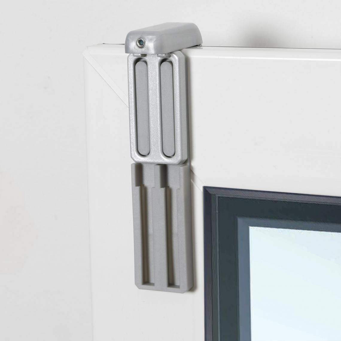 lot de 2 fixations Aluminium � serrer pour store sp�cial a�ration Madeco - Gris - 3Suisses 3Suisses