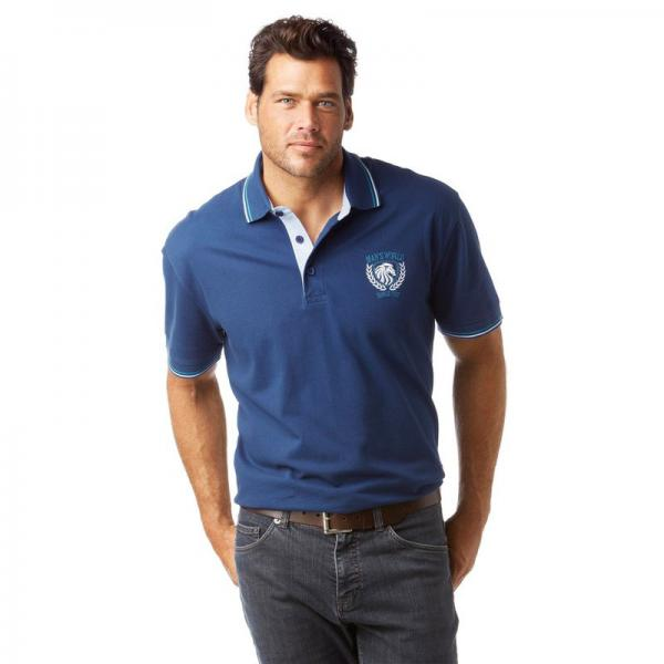 Polo manches courtes homme Man's World - Bleu Man's World Homme
