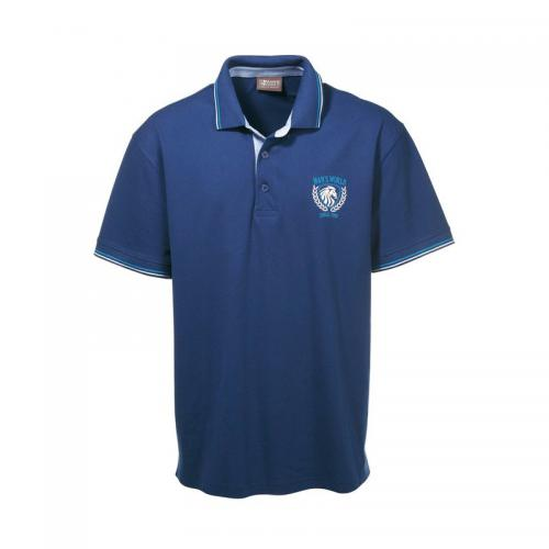 Polo manches courtes homme Man's World - Bleu Man's World