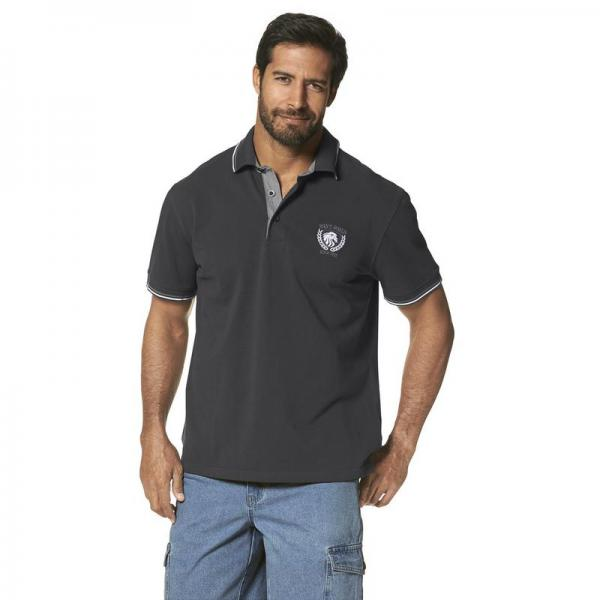 Polo manches courtes homme Man's World - Gris Man's World Homme