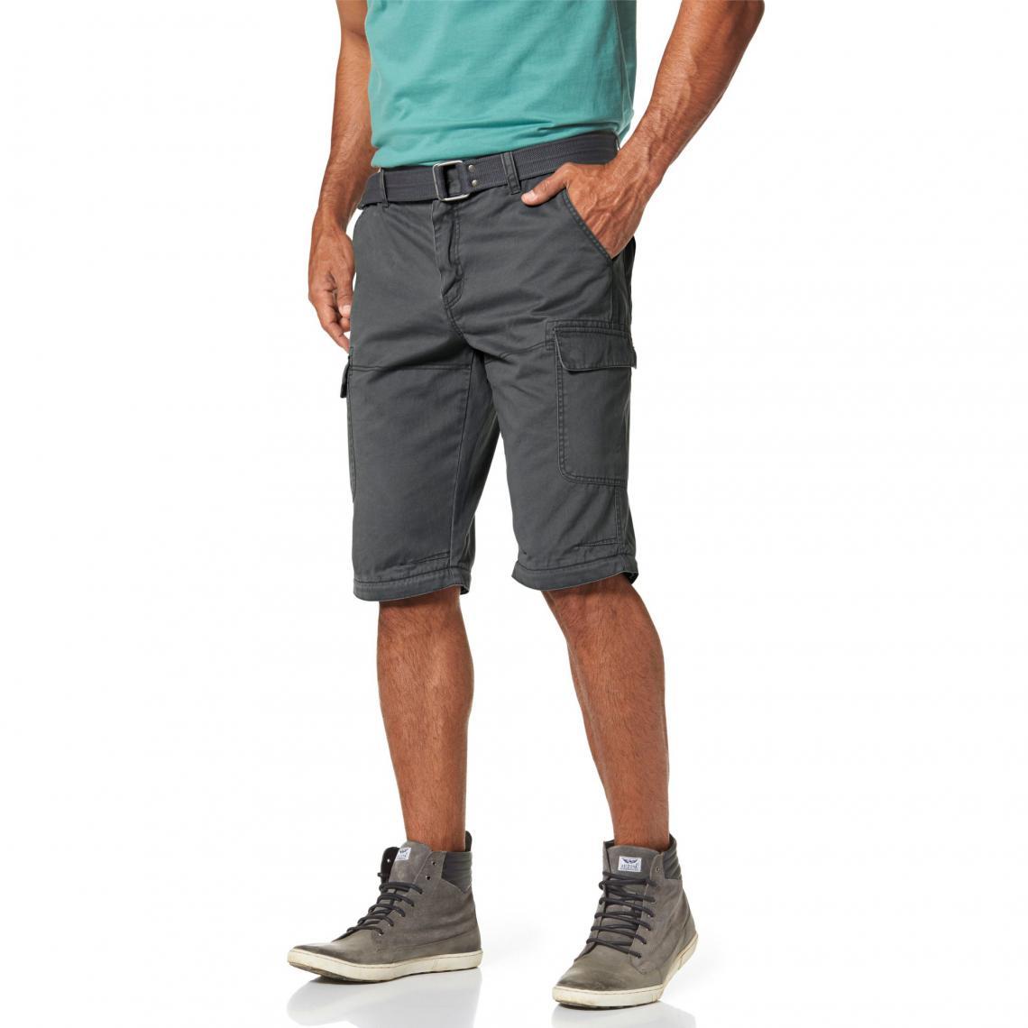 Pantalon 2 en 1 cargo avec ceinture homme Man s World - Gris Man s World  Homme 6a275855914