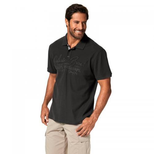 Man's World - Polo manches courtes maille piquée fantaisie homme Man's World - Gris - T-shirt / Polo