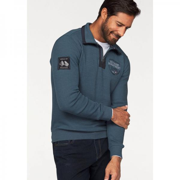 Sweat manches longues col montant zippé fantaisie homme Man's World - Multicolore Man's World Homme
