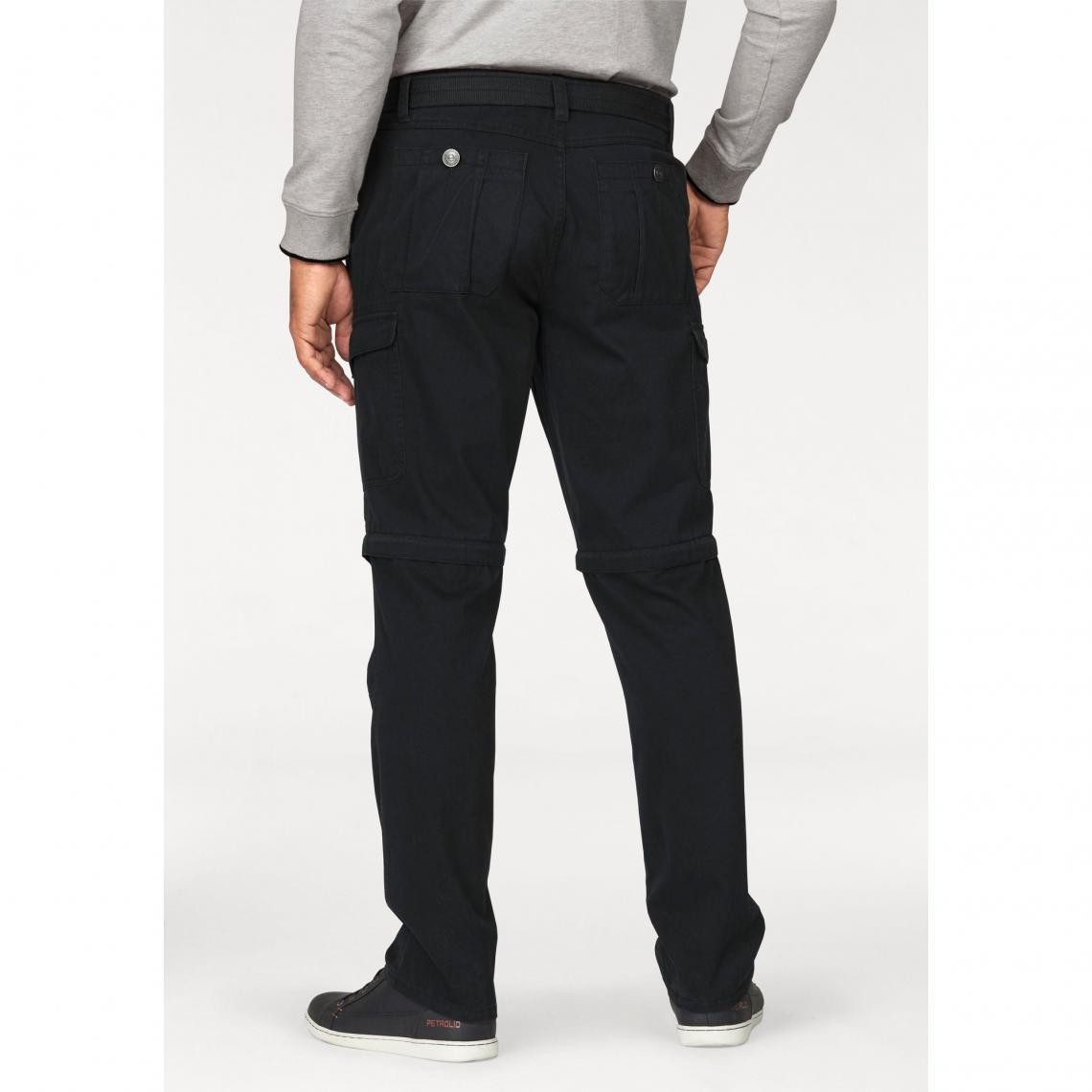 Pantalon 2 en 1 cargo avec ceinture homme Man s World - Noir   3Suisses e4574fabcd1