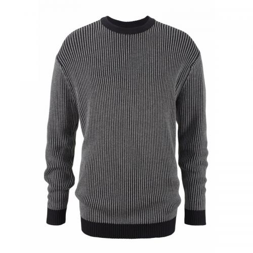 Pull col rond manches longues maille bicolore homme Man's World - Noir Man's World