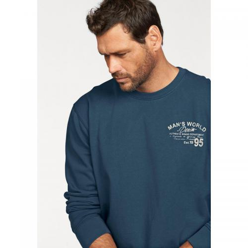 Man's World - Sweat col rond manches longues homme Man's World - Bleu - Promos vêtements homme
