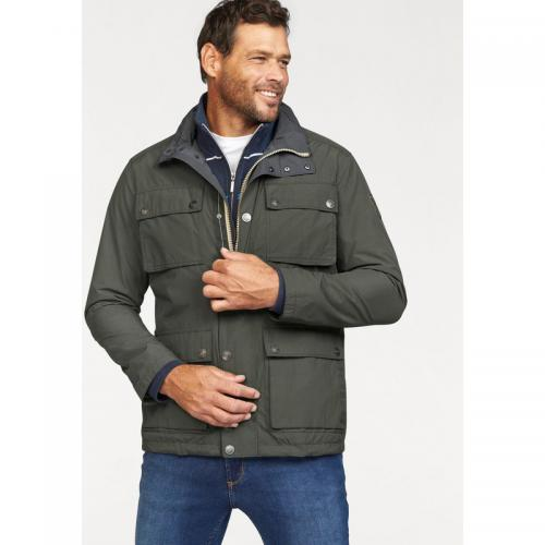 Man's World - Veste zippée multipoche en toile homme Man's World - Vert - Promos vêtements homme