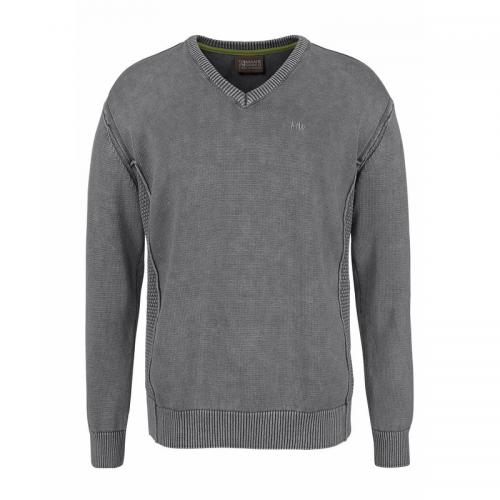 Pull coton col V homme Man's World - Gris Man's World