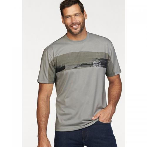 Man's World - Tee-shirt manches courtes homme Man's World - Gris - Promos vêtements homme