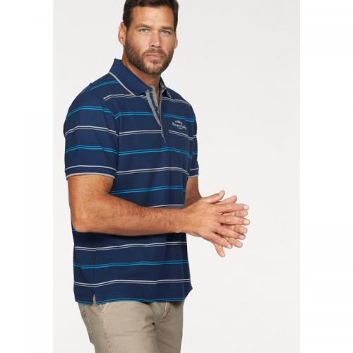 Man's World - Polo rayé manches courtes homme Man's World - Blanc - Promos vêtements homme