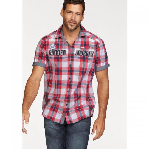 786c28fea0fb6 Man's World - Chemise manches courtes à carreaux homme Man's World -  Carreaux Rouge - Chemise