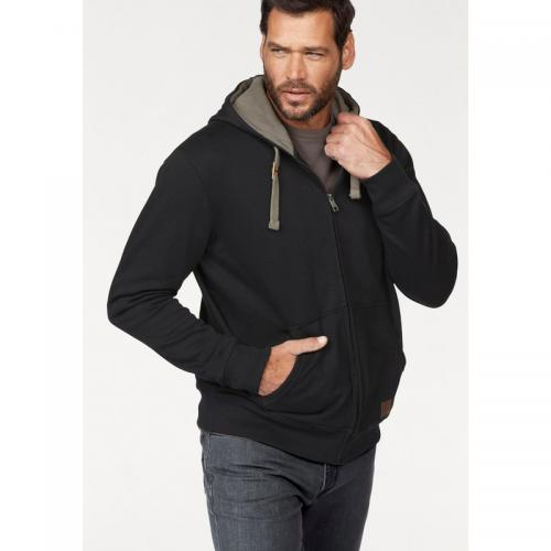Man's World - Sweat zippé à capuche homme Man's World - Noir - Promos vêtements homme