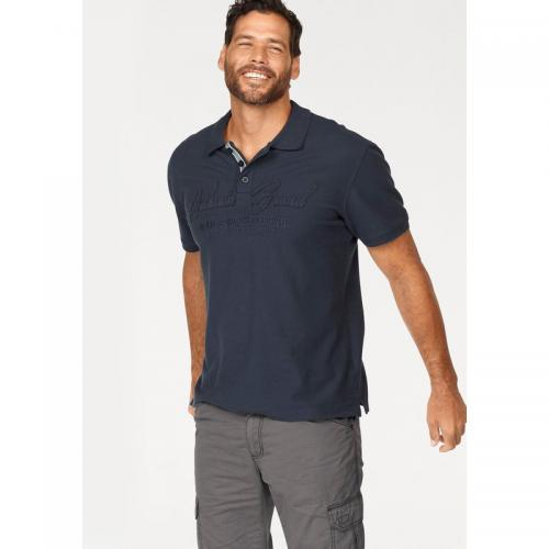 Man's World - Polo manches courtes maille piquée fantaisie homme Man's World - Bleu - T-shirt / Polo