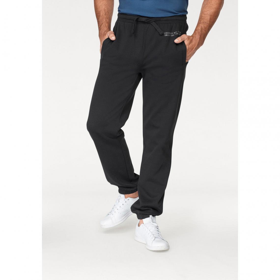 127720c95e451 Pantalon de jogging taille élastiquée homme Man s World - Noir Man s World  Homme