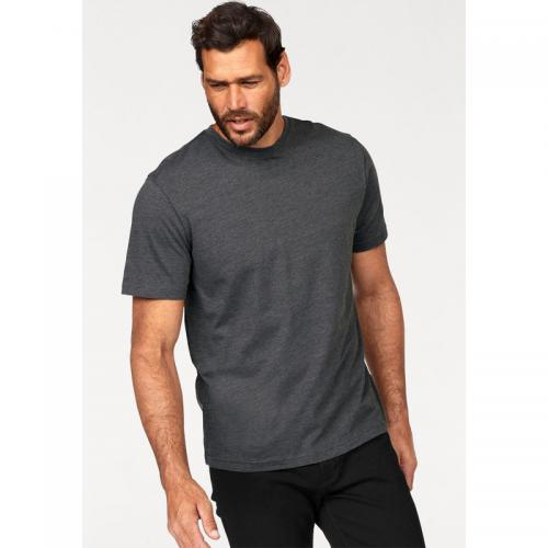 Man's World - Lot de 2 t-shirts unis col rond manches courtes homme Man's World - Gris Anthracite - Bleu - T-shirt / Polo
