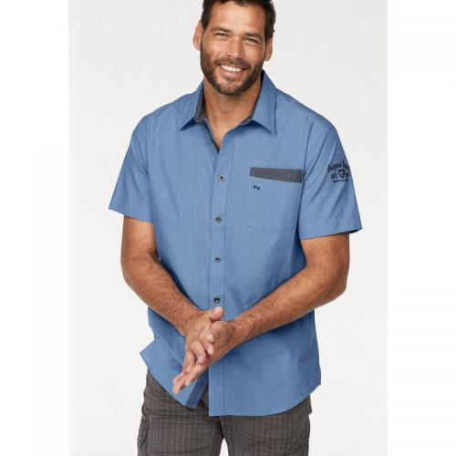 190cf90e7c9c Man s World - Chemise manches courtes à carreaux en coton homme Man s World  - Bleu -