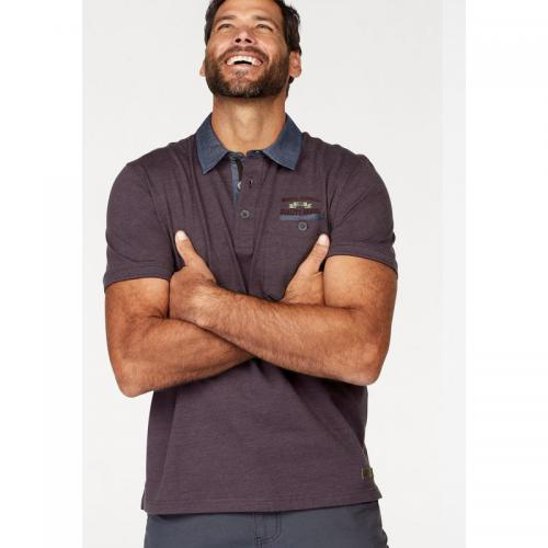 Man's World - Polo manches courtes Man's World pour homme - Bordeaux - T-shirt / Polo