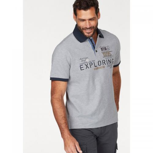 Man's World - Polo manches courtes homme Man's World - gris chiné - T-shirt / Polo Imprimé